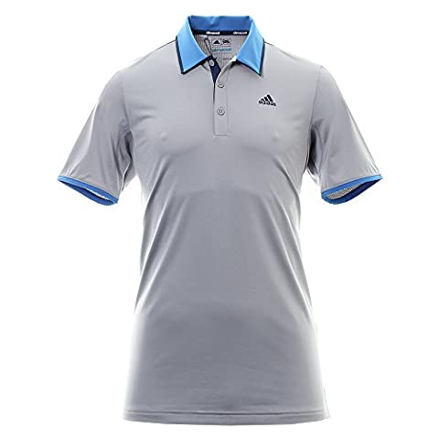 Adidas ClimaCool Performance LC T-Shirt Polo à manches courtes de Golf, homme L gris