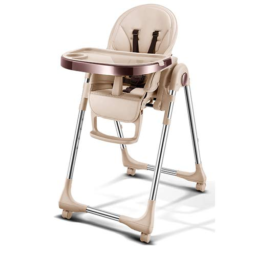 YTBLF Kinder-Esszimmerstuhl Babytisch Tragbaren Klapp-Multifunktions-Vier-In-One-Baby-Stuhl...