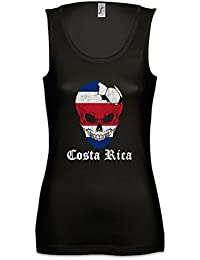 Urban Backwoods Costa Rica Football Skull I Mujer Camiseta Sin Mangas Tank Top Sizes S -