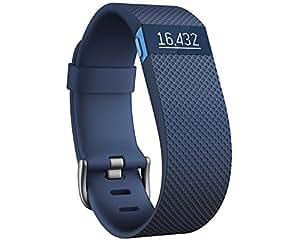 Fitbit Charge HR FB405BUS-EU Braccialetto Monitoraggio Battito Cardiaco e Attività Fisica, Blu, Taglia S