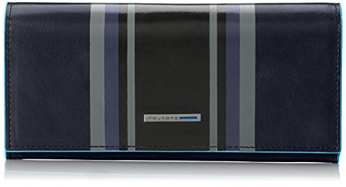Piquadro Blue Square Portafoglio Donna, Pelle, Blu, 18 cm