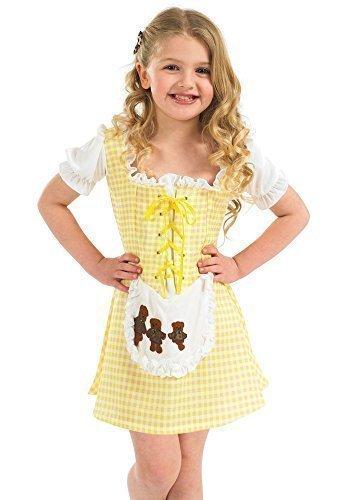 Fancy Me Mädchen Goldlöckchen Miss Muffet Dorothys Buch Tag Halloween Märchen Kostüm Kleid Outfit 4-12 Jahre - Gelb, 4-6 Years