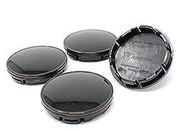 Finest Folia 4X Nabendeckel 56mm ABS Kunststoff mit Alukappe in Schwarz B Ware