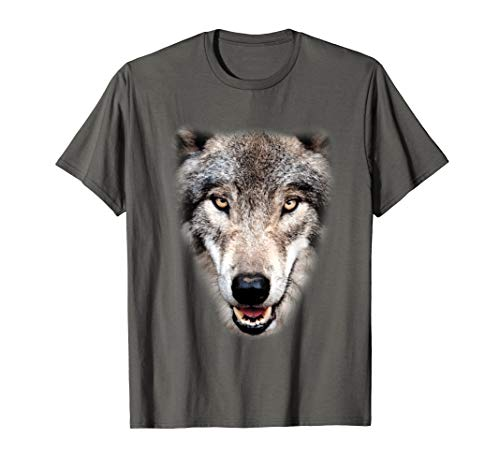 Kostüm Last Minute Super - Real Wolf Kopf Kostüm Super Lustiges Tier Halloween Geschenk T-Shirt
