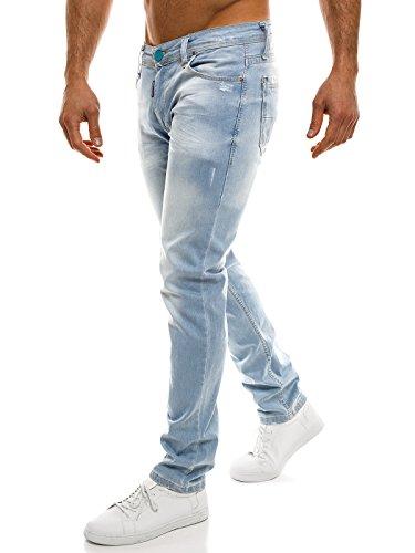 OZONEE Pantaloni Uomo Jeans Pantaloni combat Pantaloni Casual Casual Cargojeans OTANTIK 524S celeste_MC-2019