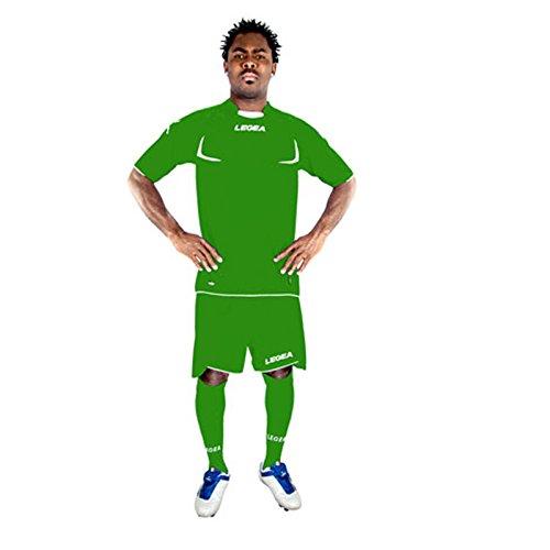 Completo completino kit legea stoccolma calcio calcetto zeus torneo sport verde-bianco taglia m