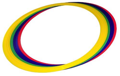 Vinex Set de 12 cerceaux de gymnastique et de coordination Multicolores