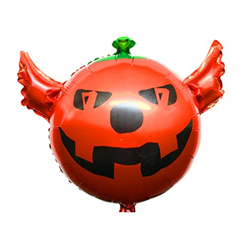 TOYMYTOY 10050,8cm Halloween Kürbis Folienballon Aluminium Folie Kürbis Luftballons Party Supplies Gastgeschenken Dekoration (rot)