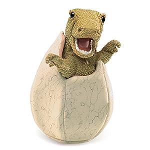 Folkmanis - Marioneta de Mano con Forma de Huevo de Dinosaurio