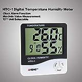 Jiobapiongxin HTC-1 Digital Temperatur-Feuchtigkeitsmessgerät Wecker Thermometer Hygrometer