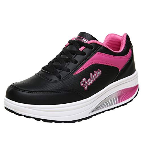 Ginli Sneakers Donna Scarpe Fitness Dimagranti Outdoor Sportive Anti Scivolo Scarpe da Ginnastica Sportive Corsa Scarpe da Lavoro Piattaforma Scarpette (35-42)
