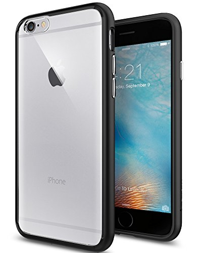igen® [Ultra Hybrid] Luftpolster-Technologie [Schwarz] Durchsichtige Rückschale und TPU-Bumper Schutzhülle für iPhone 6/6S Case, iPhone 6/6S Cover - Black (SGP11600) (Iphone 6 Hybrid Case)