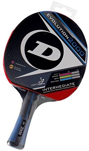 Dunlop 679196 Evolution 4000 Rubber Table Tennis Racquet, 10-inch (Multicolor)