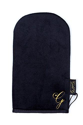 Glamouröser doppelseitiger Bräunungs-Optimierer/Luxuriöser Samt Handschuh als Applikator von Selbstbräunungscreme, waschbar von Gold G -