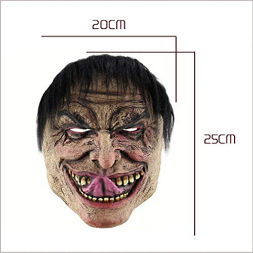 Disgusting Men Scary Clown Mask Masque Payday Party Halloween Mask for Party Mascara Carnaval Silicone Female Masks Masquerade,as The Picture