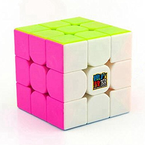 Preisvergleich Produktbild Twister.CK MoYu Cubing Klassenzimmer MoFangJiaoShi MF3RS 3x3 Speed Cube Magic Cube Puzzle Gehirn Teasers, Pink Stickerless