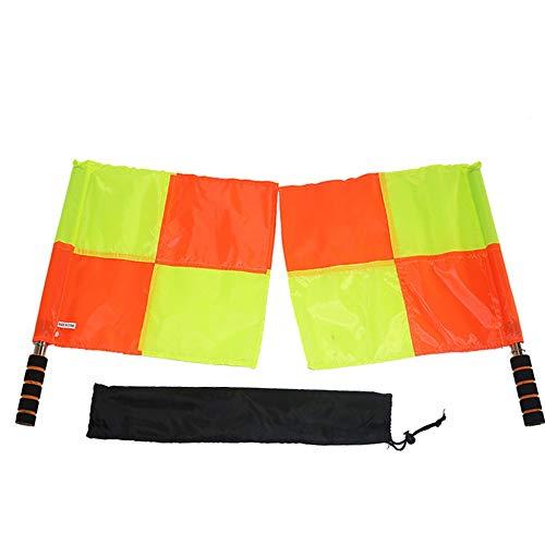 Mouchao Fußballschiedsrichter kennzeichnet professionelle Fußball-Linienrichter-Flaggen mit Aufbewahrungstasche -
