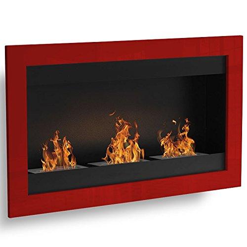 SevenFire-3-quemadores-rojo-sin-opcin-etanol-Sartn-Chimenea-de-pared-ecolgico