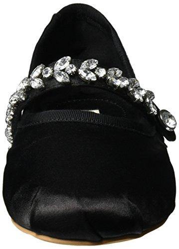 Buffalo Ladies 216-6124 Satin Chiuso Ballerinas Nero (nero 01)