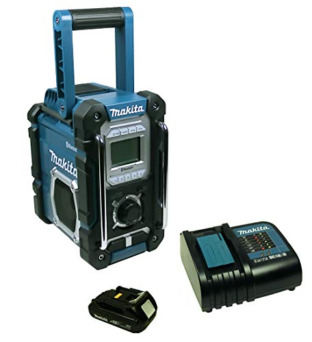 Makita DMR 108 Baustellenradio mit Bluetooth + Akku 1,5 Ah und Ladegerät