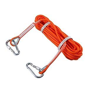 Selighting Cuerda de Seguridad Cuerda de Escalada Profesional de Alta Resistencia para Escalar al Aire Libre y en Interiore Perfessional Rappelling Auxiliar, 8mm de Diámetro