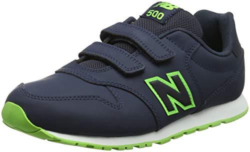 New Balance Unisex-Kinder 5 Sneaker, Blau (Navy/Green Grey), 39 EU