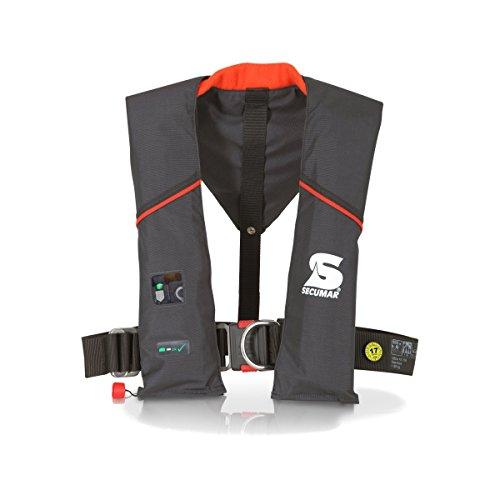 Automatische Rettungsweste Secumar Ultra AX 150 Plus Harness, Spraycap, Solas - Leuchte
