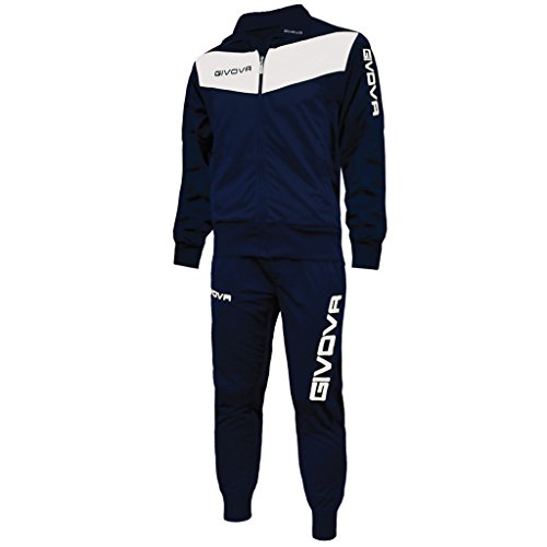 givova-tuta-visa-survetement-football-polyester-48-bleu-marine-blanc