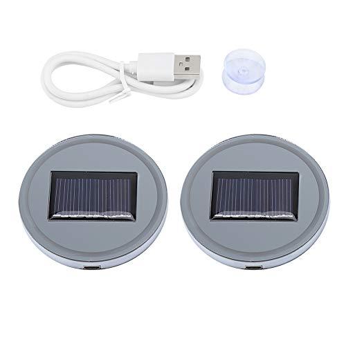 ar LED Cup Pad Halter RGB 7 Farben Lichter USB Auto Flasche Bodenmatte ()