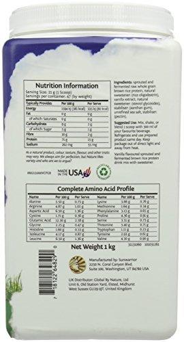 Sunwarrior Ultimate Raw Superfood Protein Vanilla Powder 1Kg Test