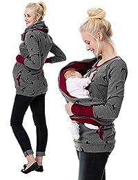 LHWY Premamá Invierno Leggins Abrigos Sudadera con Capucha De Maternidad para Mujer Sudadera con Capucha Lactancia Materna Jersey