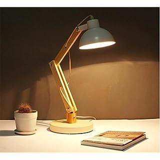 XIAOJIA Lampe de bureau Mode LED réglable dimming Tomons Bois Swing Arm Lampe de Table protection des yeux