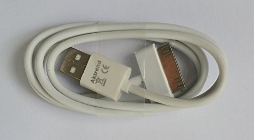 AKTrend® - USB Sync Kabel Datenkabel Ladekabel für Apple iPhone 3G 3GS 4 4G 4S , iPad 1 2 3 , iPod Classic Touch Nano 1G 2G 3G Photo Mini Usb Kabel Weiss AK74Z0 - Classic 2g Fällen