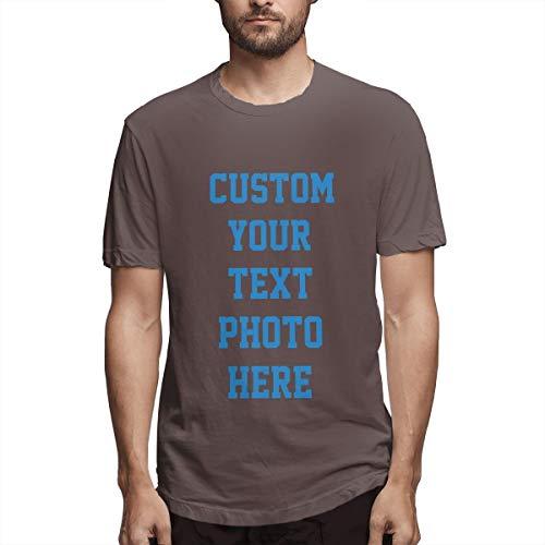 Personalisierte Herrenbekleidung - 2-seitiges T-Shirt - Gestalten Sie Ihr persönliches T-Shirt(Coffee 4XL) -