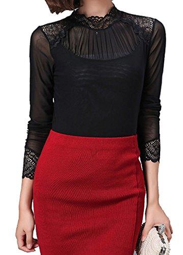 helan-womens-lace-high-neck-net-yarn-basic-blouse-top-shirt-uk-14-black