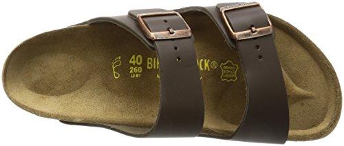 Birkenstock Classic ARIZONA Unisex-Erwachsene Pantoletten Braun (Dunkelbraun)