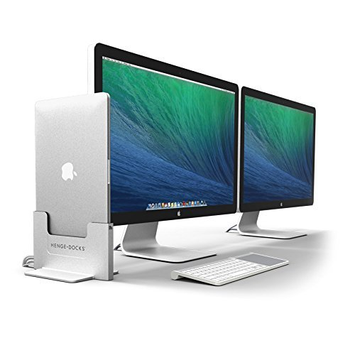 "41NPkdHig9L - Henge Dockingstation aus Metall für 15"" Apple MacBook Pro Retina, grau"