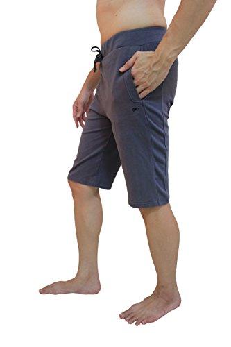 YogaAddict Herren Yoga-Hose, kurz, ideal für jeden Yoga-Stil / Pilates, Kampfkunst / Fitnessstudio, Outdoor-Aktivitäten, wählen Sie eine Farbe, Herren, graphit, xxl