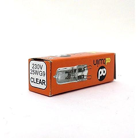 Bombilla de bajo consumo G9 25W MATE 230v