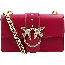 PINKO. BAG Love Simply 5 Rossa con Dettagli Oro con Catena Oro 1P216U Y4YM  R52 404afc4bc64