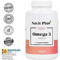 Omega 3 Ácidos grasos + Vitamina E. Alta dosis de EPA (700 mg) y DHA (500 mg). Efecto antiinflamatorio y anticoagulante.