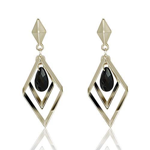YA&NG Art-Deco-Ohrringe, Accessorize Ohrringe, Vintage Drop Diamant 925 Silber Nadel Schmuck Persönlichkeit Temperament Ohrringe