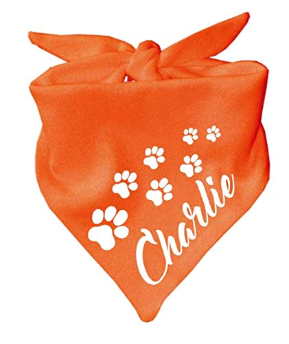 KLEINER FRATZ Hunde Dreiecks Halstuch (Fb: orange) (Gr. 1 (55 cm)) Name des Hundes