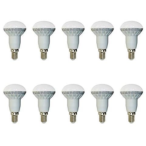 10-er SET, V-TAC, 4243, 6W, E14, SMD LED Reflektorlampe, R50, 2700K, Warmlicht, 400 lm, Abstrahlwinkel 120°, Nicht dimmbar,