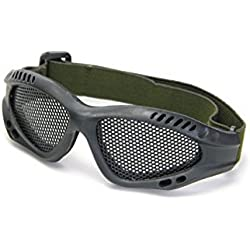 kingken dedicado Shooting táctico de Airsoft caza arena malla de Metal gafas (verde)
