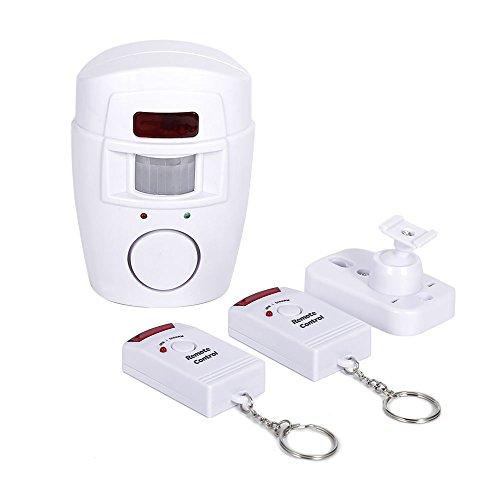 105DB Bewegungsmelder Alarm Wireless IR Infrarot Remote Security System für Gartenhäuser und...