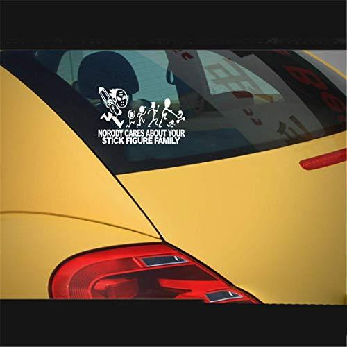 Adesivi Per Targa Auto 23x15cm Jason con motosega citazione decalcomania Nessuna carrozzeria si prende cura della portiera del finestrino Parabrezza posterio
