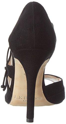 LK BENNETT Damen Lucile Offene Sandalen mit Keilabsatz Schwarz (Black)