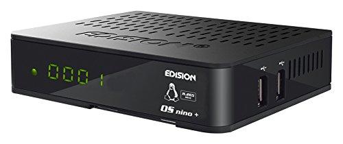 Edision OS NINO+ Full HD Linux E2 Combo-Receiver H.265/HEVC (1x DVB-S2, 1x DVB-T2/C, WLAN onboard, Bluetooth onboard, 2x USB, HDMI, LAN, Linux, Kartenleser) schwarz - 512 Mb Ddr3 Video