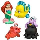 Disney, Little Mermaid, Ariel, Flounder, Ursula, Sebastian Bath Toy Play Set -- 4-Pc.